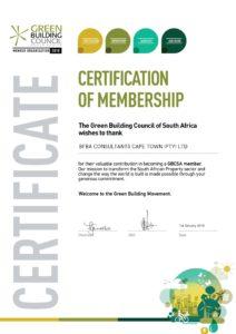 2018 Membership Certifcate
